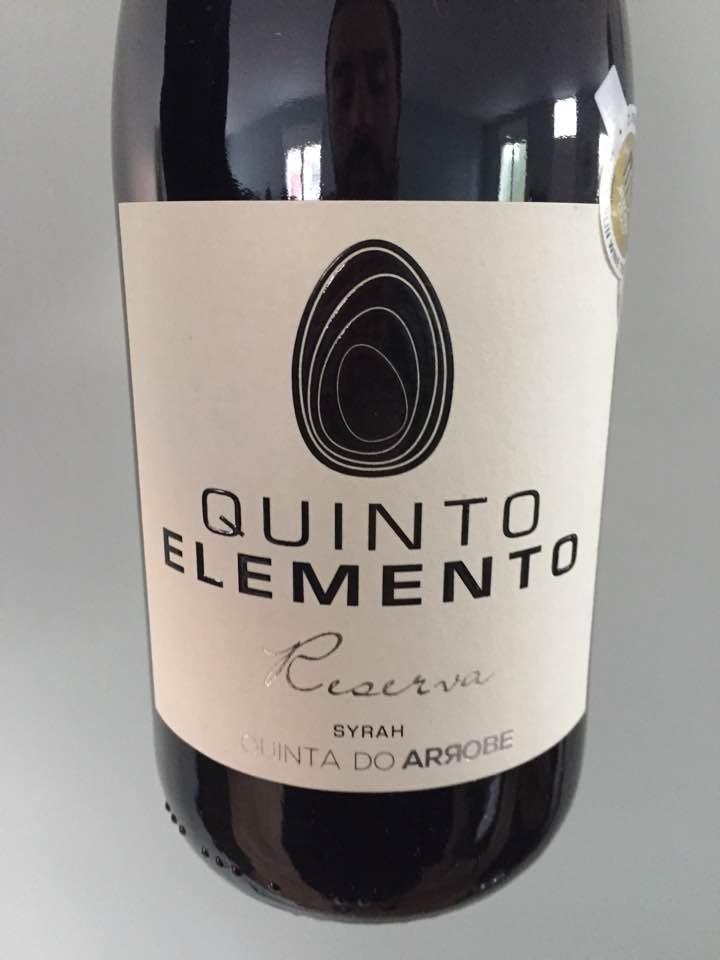Quinta da Arrobe – Quinto Elemento – Syrah Reserva 2013 – Vinho Regional Tejo