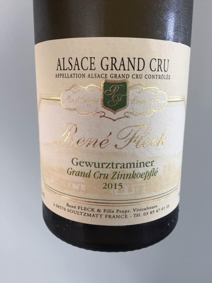 René Fleck – Gewurztraminer 2015 – Alsace Grand Cru, Zinnkoepflé