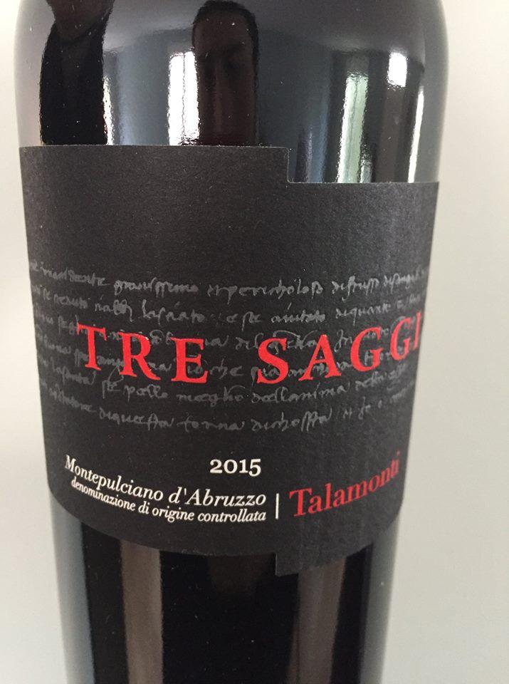 Talamonti – Tres Saggi 2015 – Montepulciano d'Abruzzo