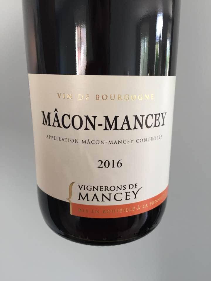 Vignerons de Mancey 2016 – Mâcon-Mancey
