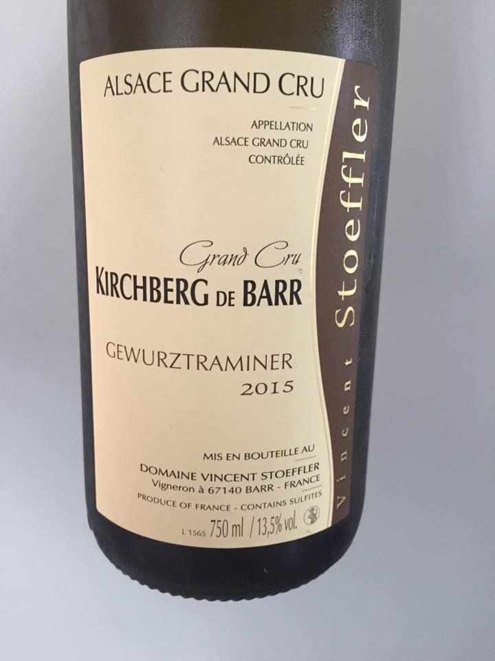 Vincent Stoeffler – Gewurztraminer 2015 – Alsace Grand Cru, Kirchberg de Barr