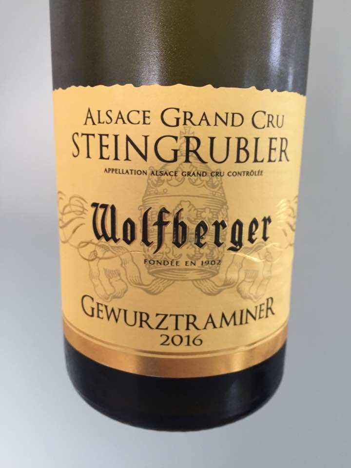 Wolfberger – Gewurztraminer 2016 – Alsace Grand Cru, Steingrubler