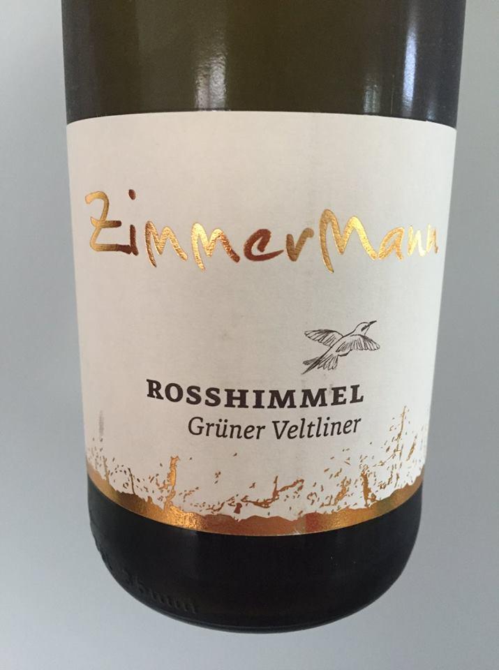 ZimmerMann – Rosshimmel – Grüner Veltliner Reserve 2016 – KremstalDAC
