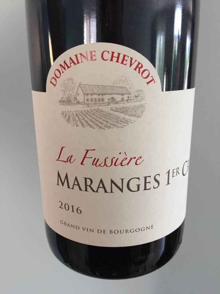 Domaine Chevrot – La Fussière 2016 – Marange 1er Cru