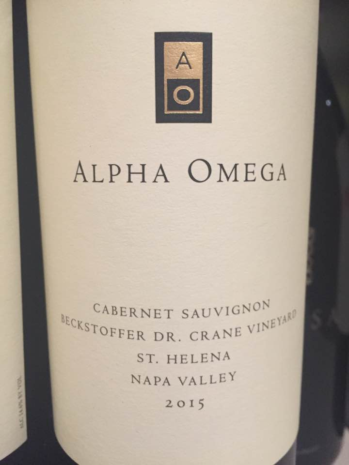 Alpha Omega – Cabernet Sauvignon 2015, Beckstoffer Dr Crane – St. Helena, Napa Valley