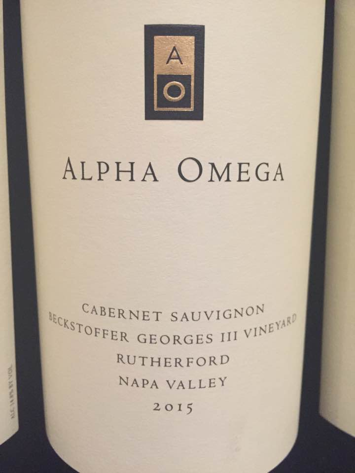 Alpha Omega – Cabernet Sauvignon 2015, Beckstoffer Georges III Vineyard – Rutherford, Napa Valley