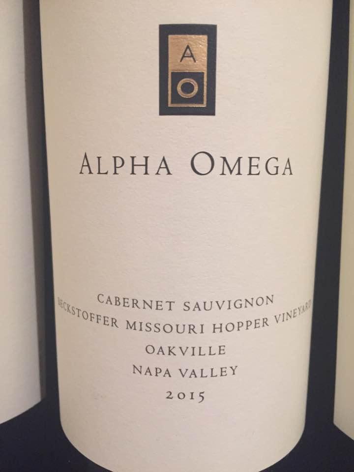 Alpha Omega – Cabernet Sauvignon 2015, Beckstoffer Missouri Hopper – Oakville, Napa Valley
