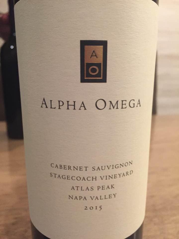 Alpha Omega – Cabernet Sauvignon 2015, Beckstoffer Stagecoach – Atlas Peak, Napa Valley