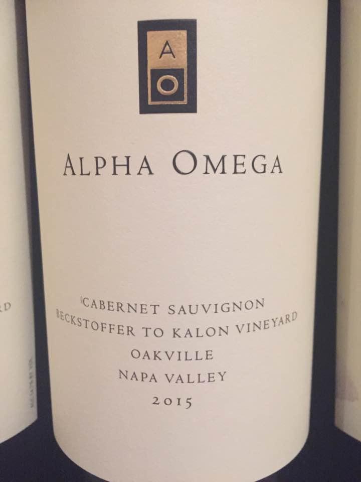 Alpha Omega – Cabernet Sauvignon 2015, Beckstoffer To Kalon – Oakville, Napa Valley