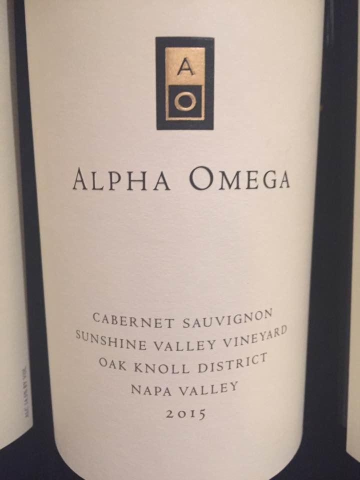 Alpha Omega – Cabernet Sauvignon 2015, Sunshine Valley Vineyard – Oak Knoll District, Napa Valley