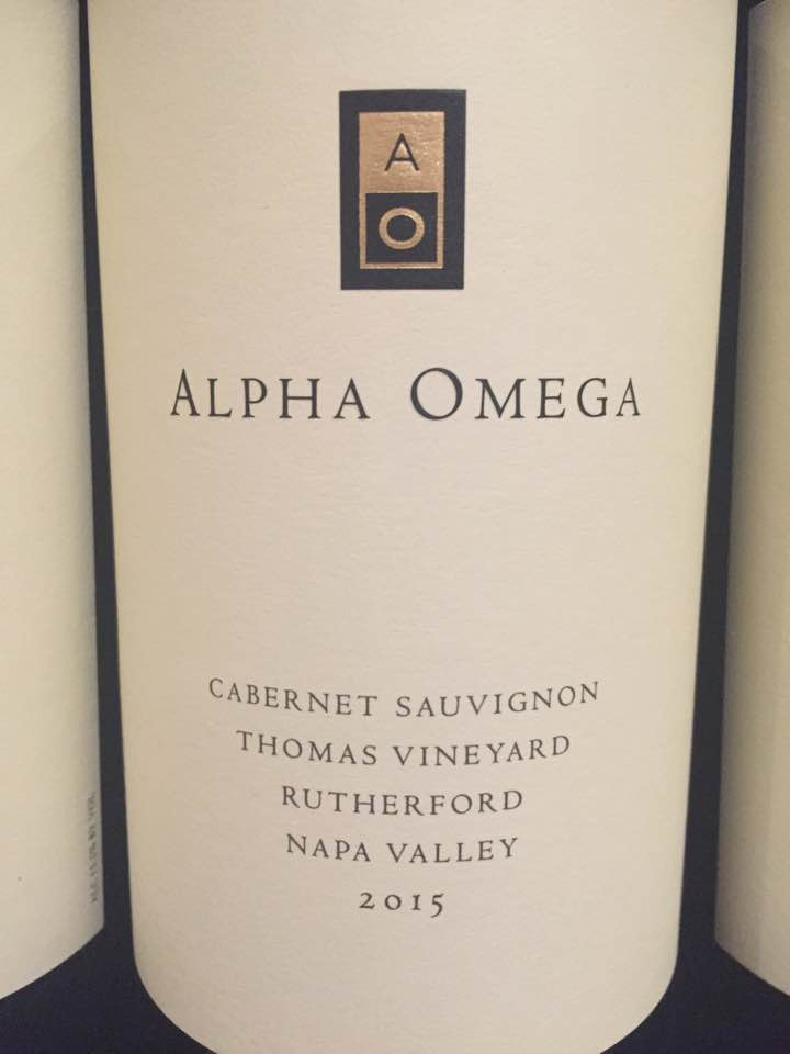 Alpha Omega – Cabernet Sauvignon 2015, Thomas Vineyard – Rutherford, Napa Valley