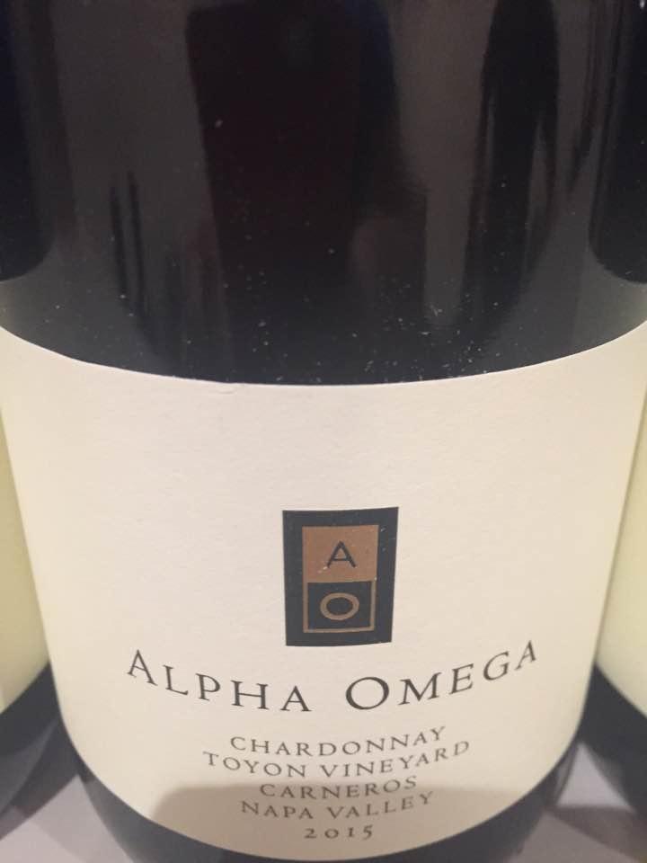 Alpha Omega – Chardonnay 2015, Toyon Vineyard – Carneros, Napa Valley