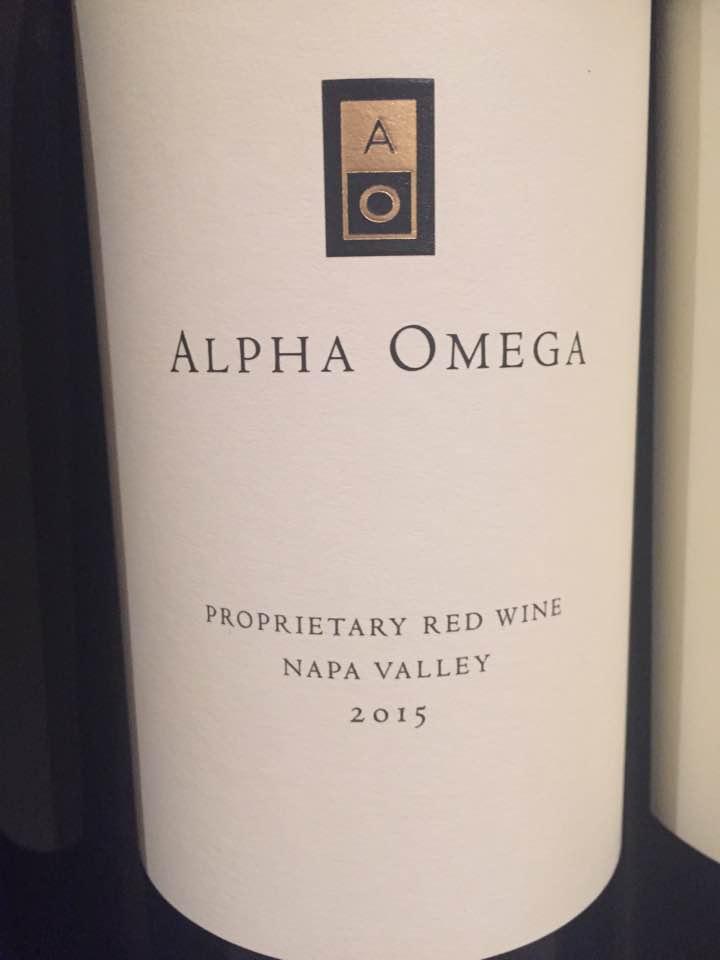 Alpha Omega – Proprietary Red Wine 2015 – Napa Valley