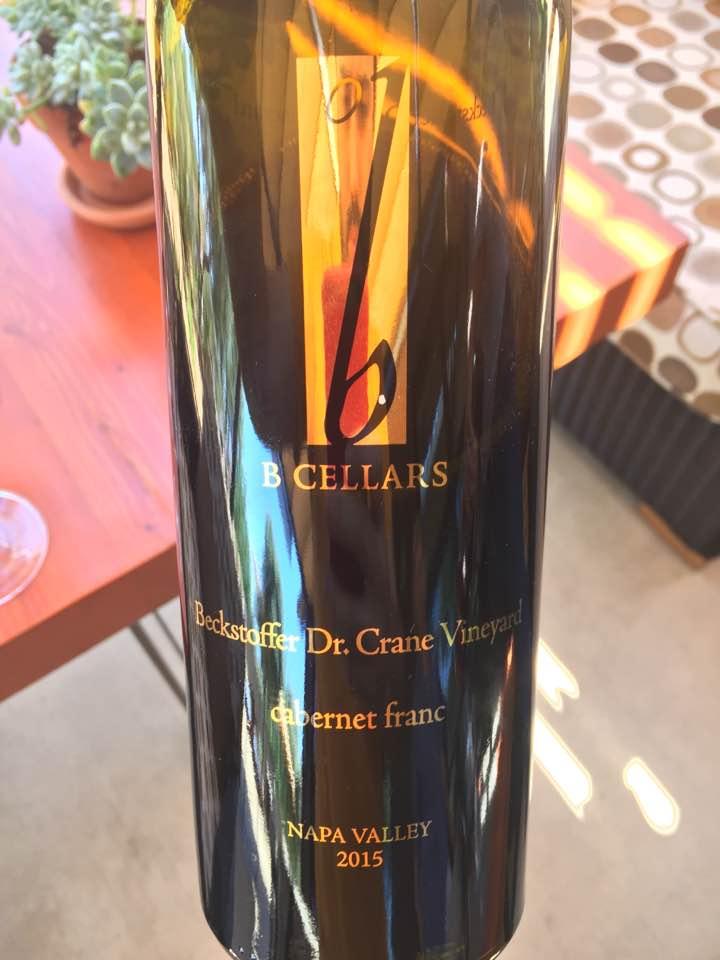 B cellars – Cabernet Franc 2015, Beckstoffer Dr. Crane Vineyard – St. Helena, Napa Valley