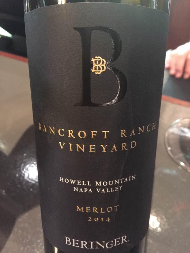 Beringer – Merlot 2014, Brancroft Ranch Vineyard – Howell Mountain, Napa Valley