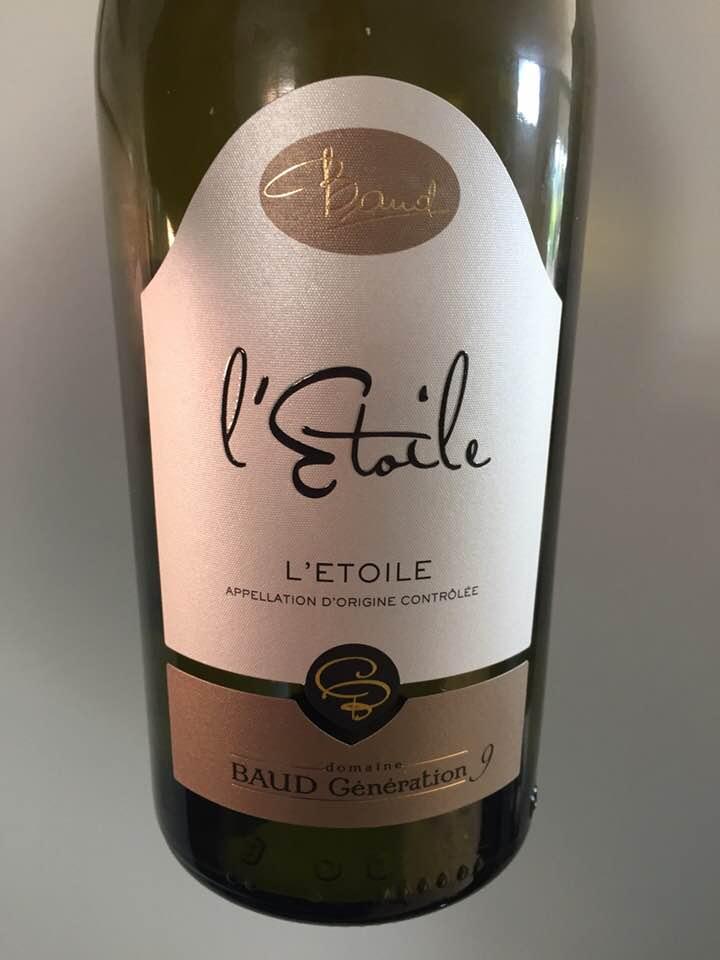 Domaine Baud Génération 9 – Chardonnay 2015 – L'Etoile