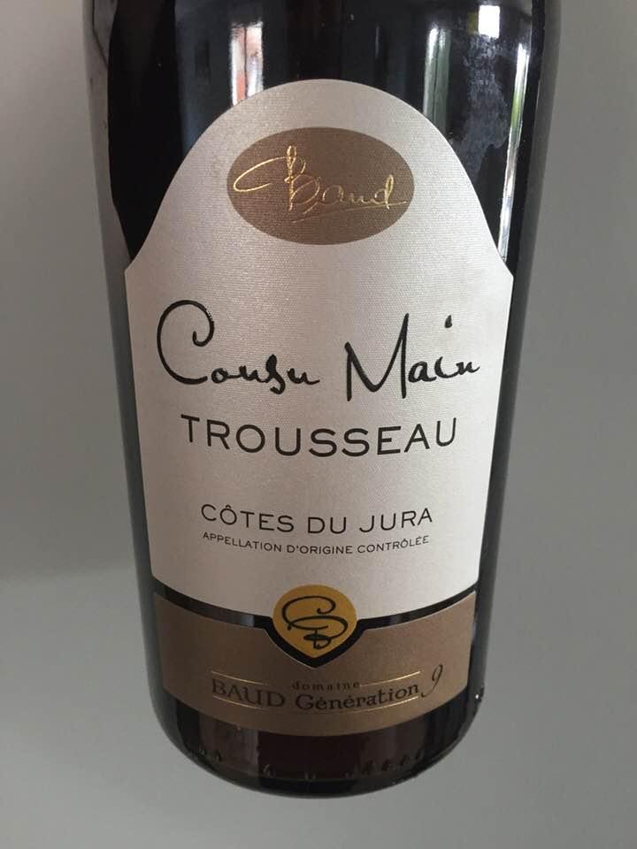 Domaine Baud Génération 9 – Cousu Main, Trousseau 2016 – Côtes-du-Jura