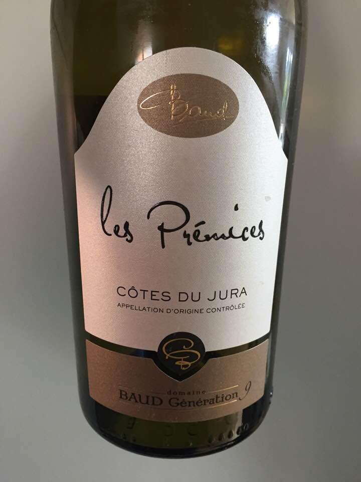 Domaine Baud Génération 9 – Les Prémices 2015 – Côtes du Jura