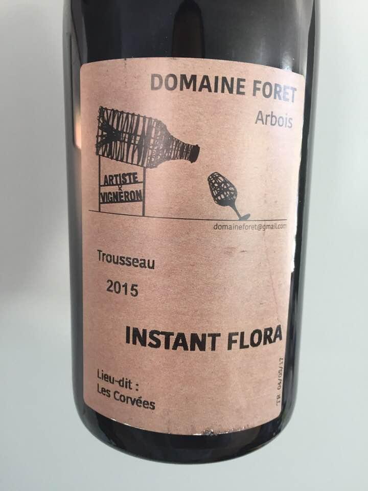 Domaine Foret – Instant Flora 2015, Trousseau – Lieu-dit Les Corvées – Arbois