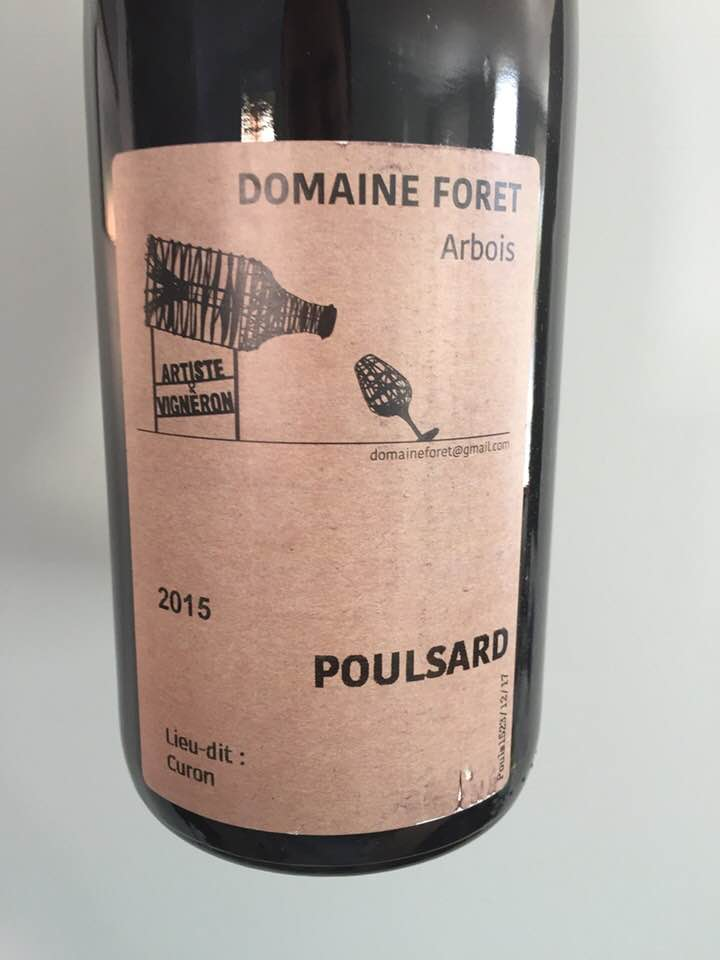 Domaine Foret – Poulsard 2015 – Lieu-dit Curon – Arbois