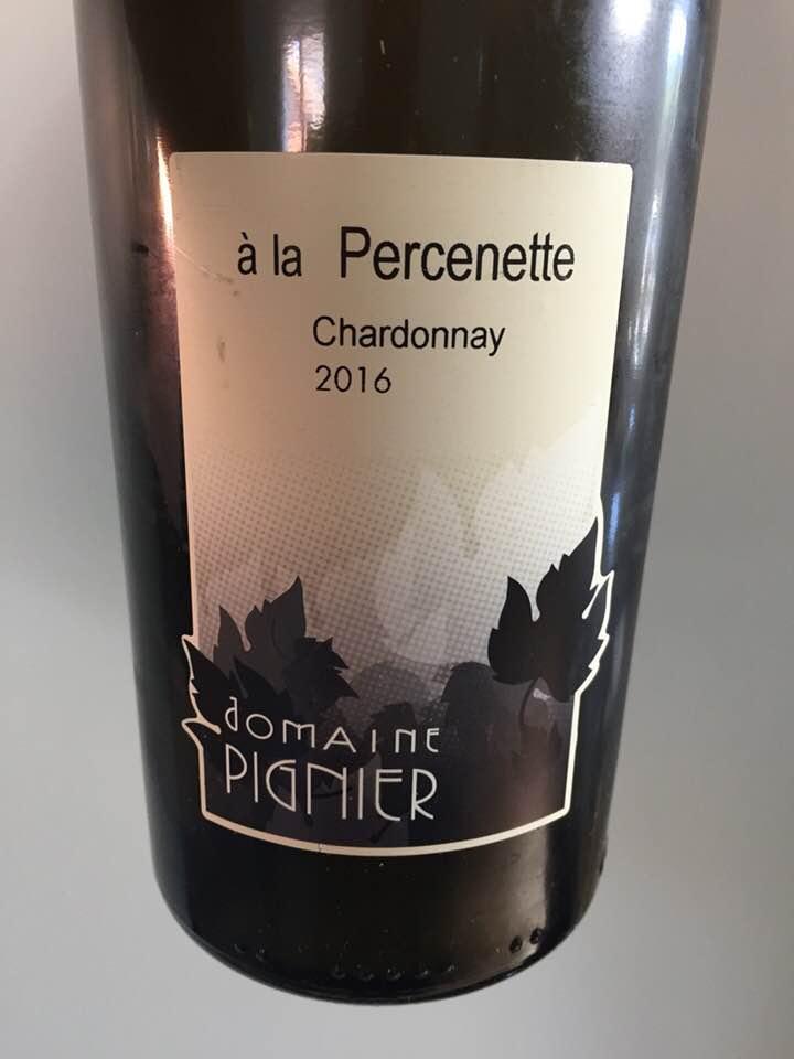 Domaine Pignier – A la Percenette 2016 – Côtes du Jura