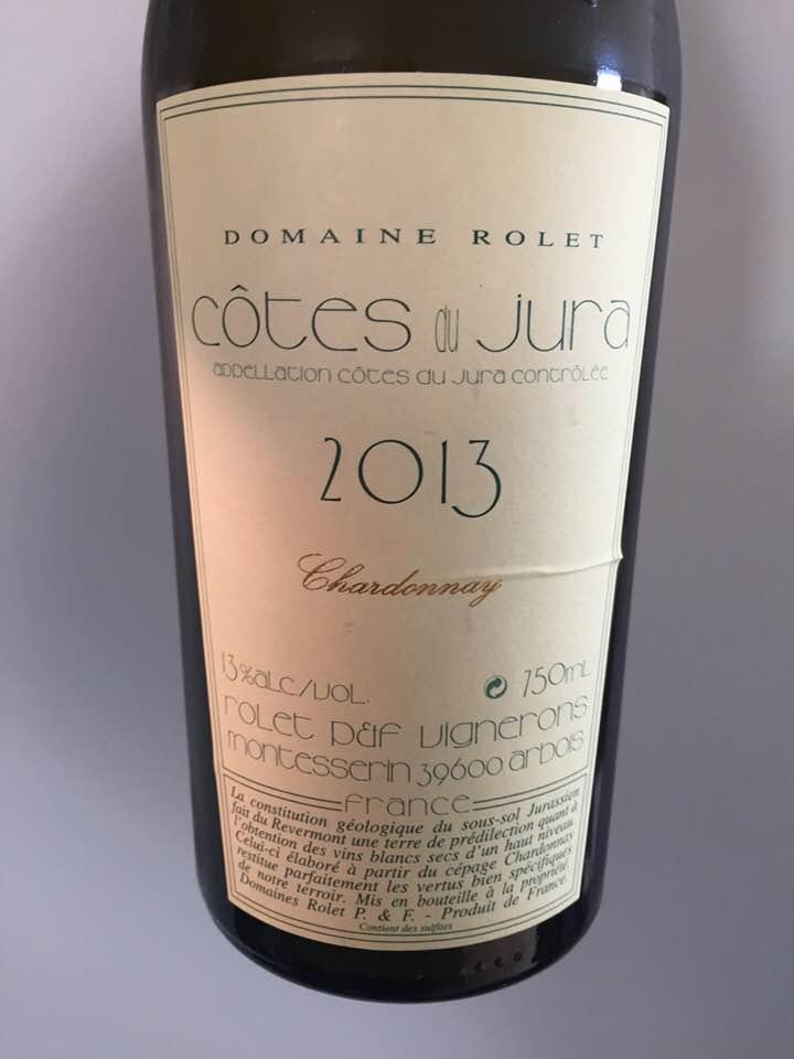 Domaine Rolet – Chardonnay 2013 – Côtes du Jura