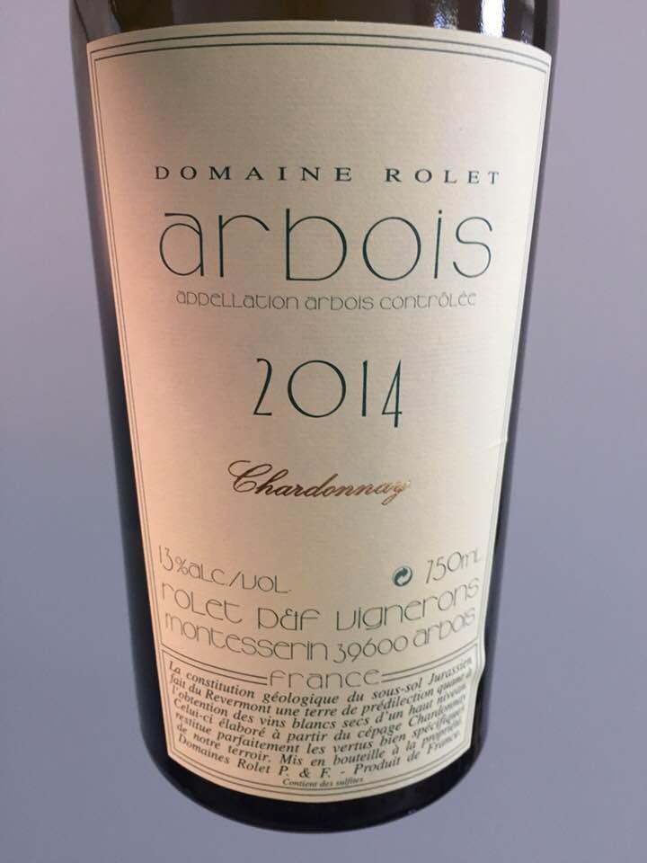 Domaine Rolet – Chardonnay 2014 – Arbois