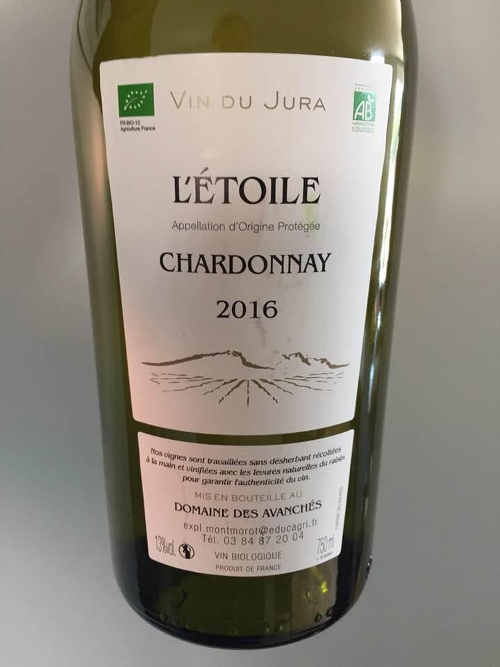 Domaine des Avanchés – Chardonnay 2016 – L'Etoile