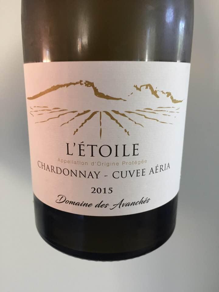 Domaine des Avanchés – Chardonnay, Cuvée Aéria 2015 – L'Etoile