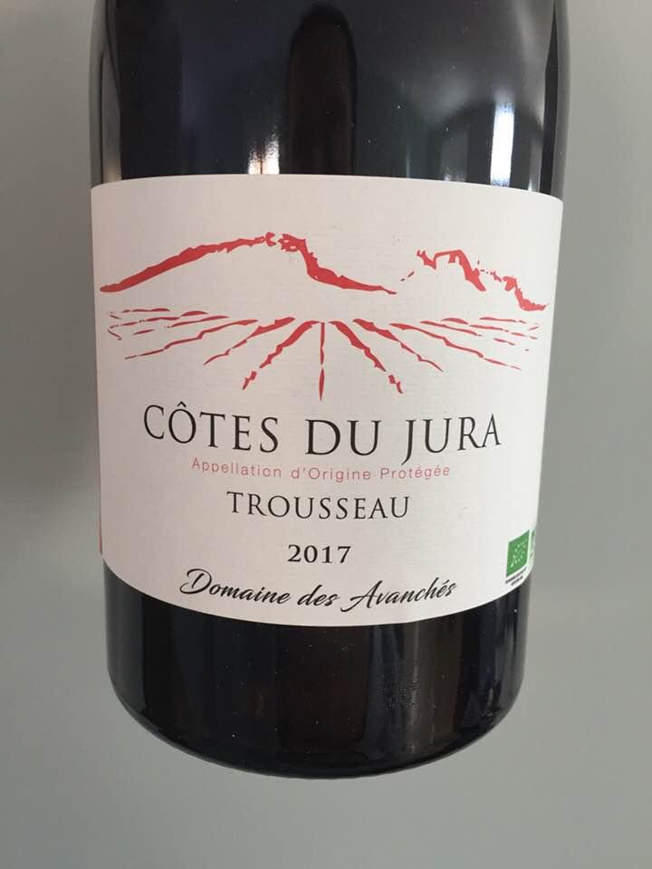Domaine des Avanchés – Trousseau 2017 – Côtes du Jura