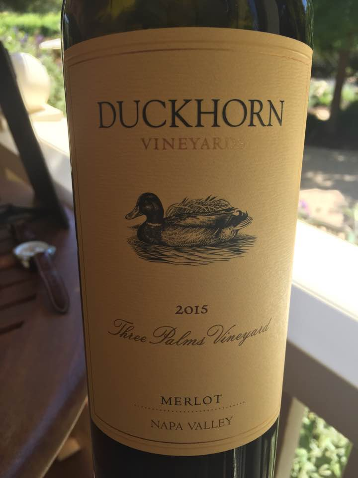 Duckhorn Vineyards – Three Palms Vineyard 2015 Merlot – Napa Valley
