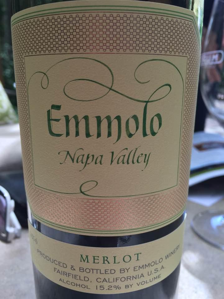 Emmolo – Merlot 2016 – Napa Valley