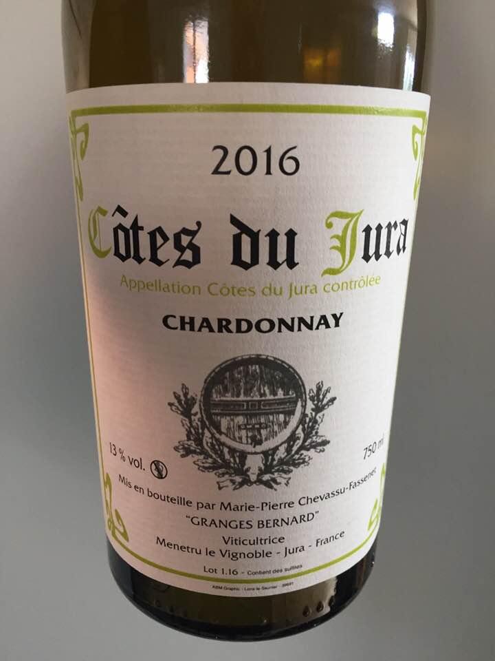 Granges Bernard – Chardonnay 2016 – Côtes du Jura