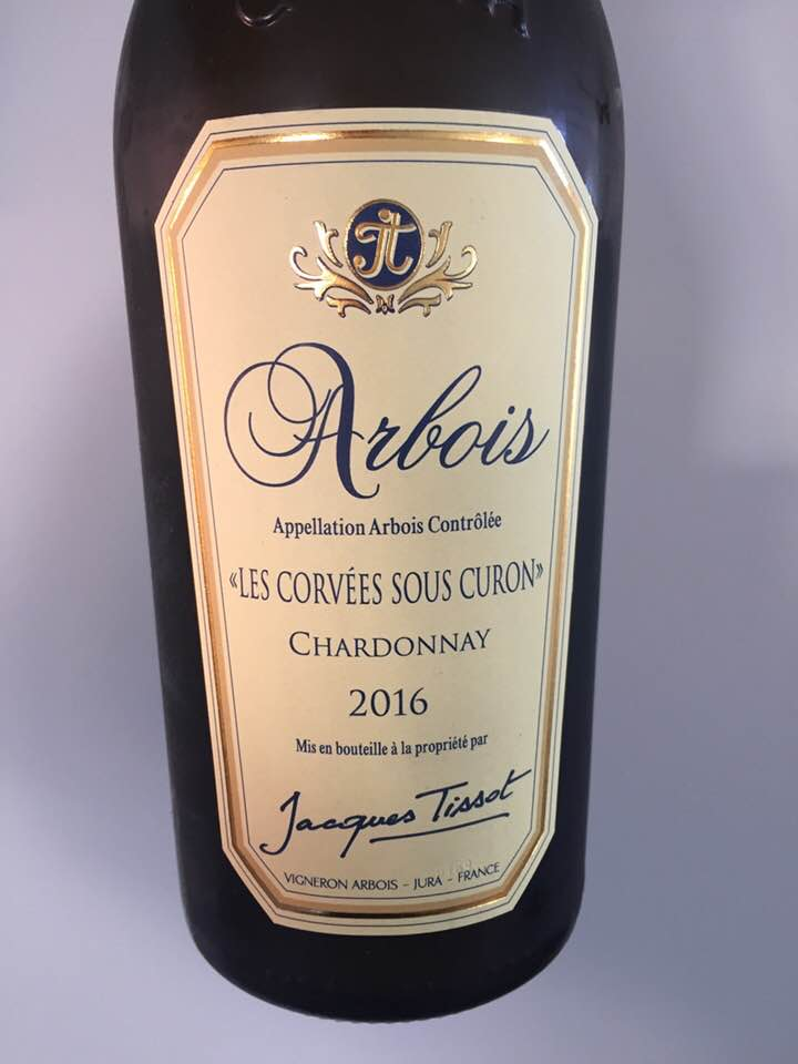 Jacques Tissot – « Les Corvées sous Curon » 2016 Chardonnay – Arbois