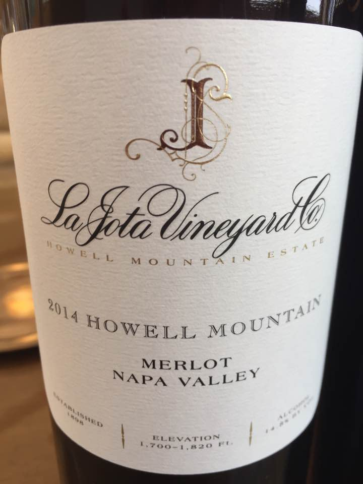 La Jota Vineyard – Merlot 2014, Howell Mountain, Napa Valley