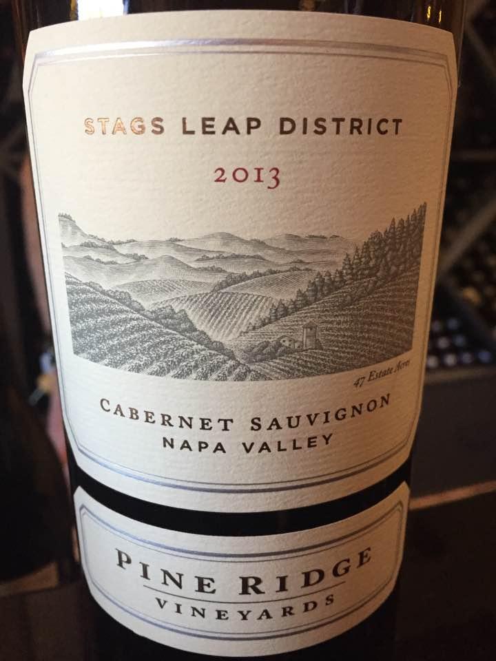 Pine Ridge – Cabernet Sauvignon 2013, Stag Leap District– Napa Valley