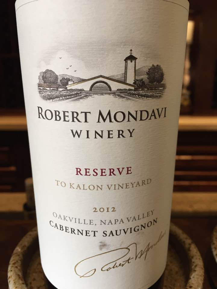 Robert Mondavi – Cabernet Sauvignon 2012 Reserve, To Kalon Vineyard – Oakville, Napa Valley