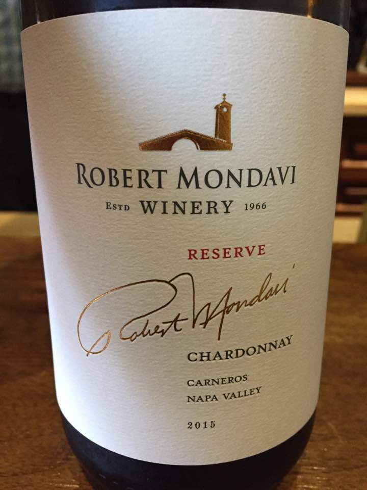 Robert Mondavi – Chardonnay 2015 Reserve– Carneros, Napa Valley