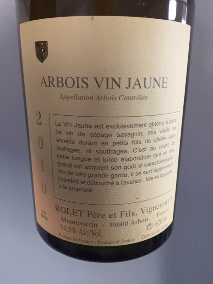 Rolet Père et Fils – Vin Jaune 2010 – Arbois