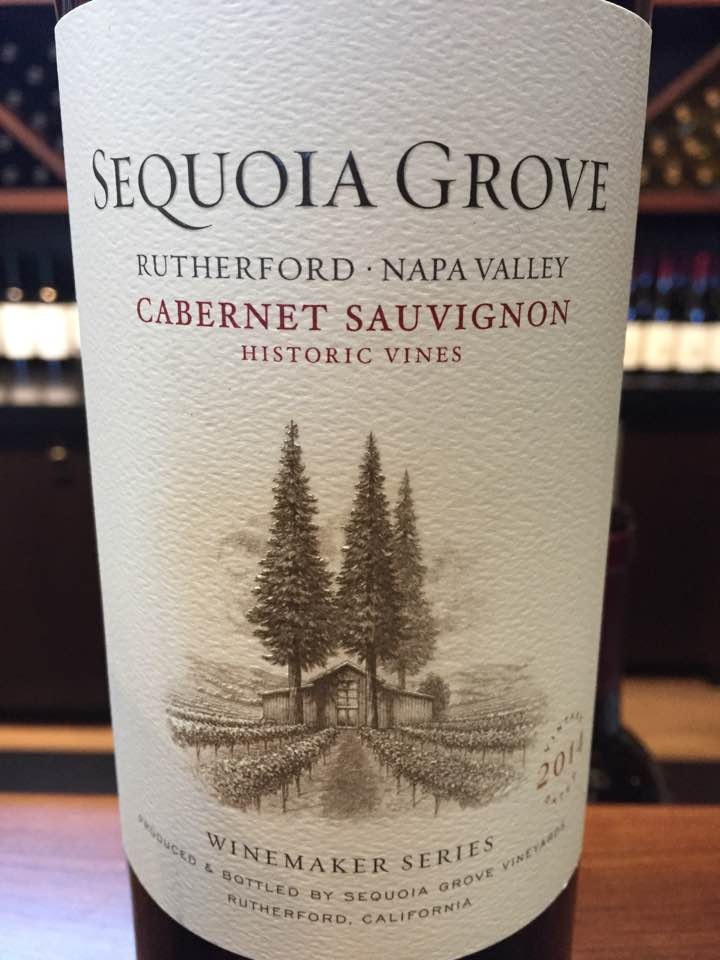 Sequoia Grove – Cabernet Sauvignon 2014, Winemaker Séries – Historic Vines, Rutherford – Napa Valley