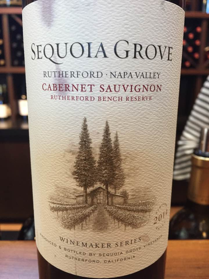 Sequoia Grove – Cabernet Sauvignon 2014, Winemaker Séries – Rutherford Bench Reserve – Napa Valley