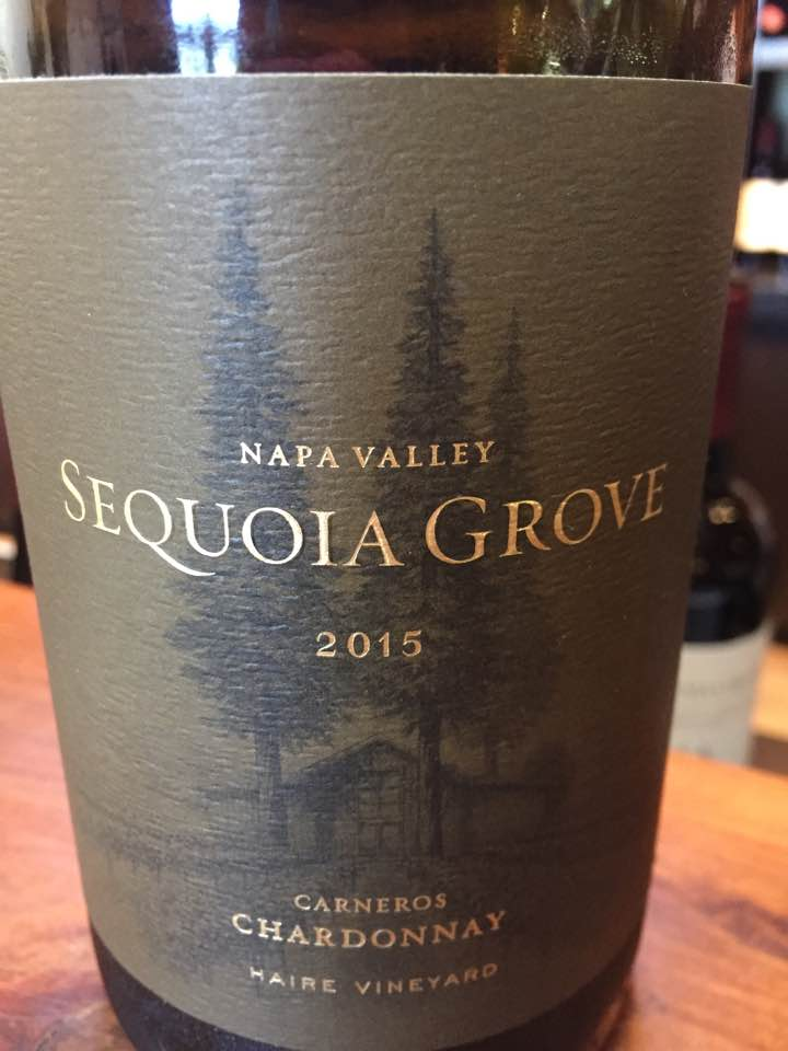 Sequoia Grove – Chardonnay 2015, Carneros, – Haire Vineyard – Napa Valley