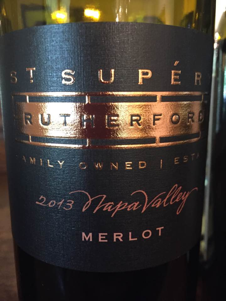 St Supéry – Estate Vineyard Merlot 2013 – Rutherford, Napa Valley