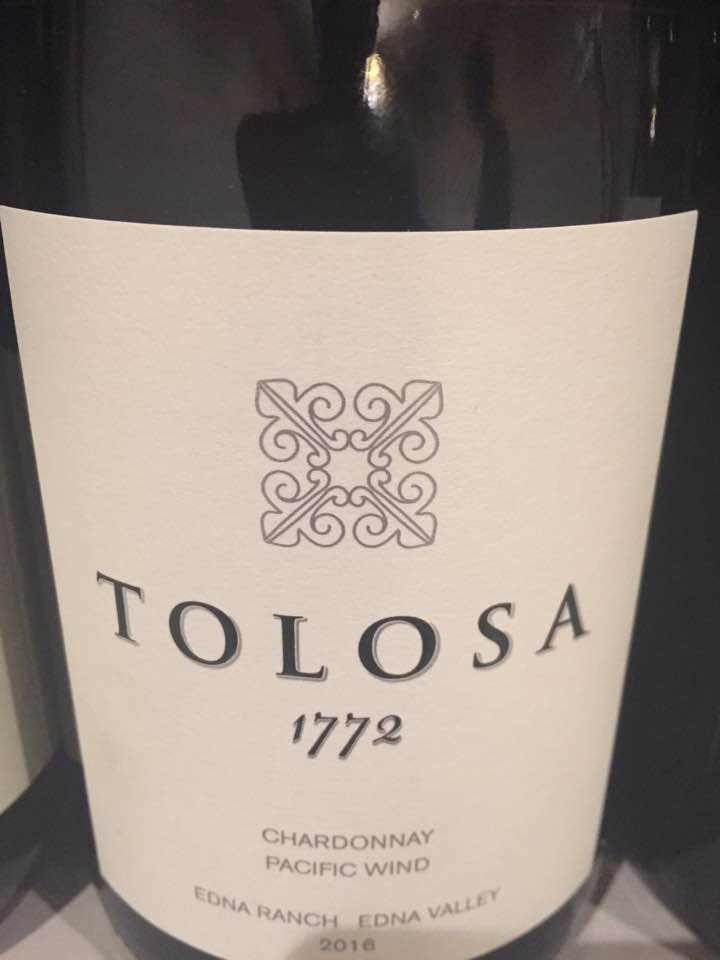 Tolosa – 1772 Chardonnay 2016, Pacific Wind – Edna Ranch, Edna Valley