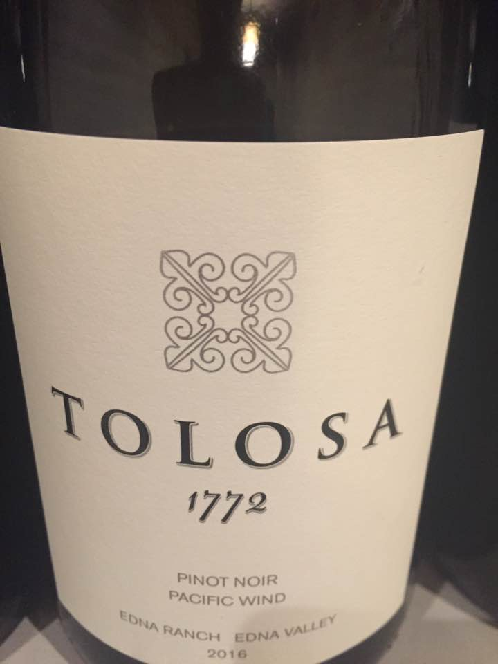 Tolosa – 1772 Pinot Noir 2016, Pacific Wind – Edna Ranch, Edna Valley
