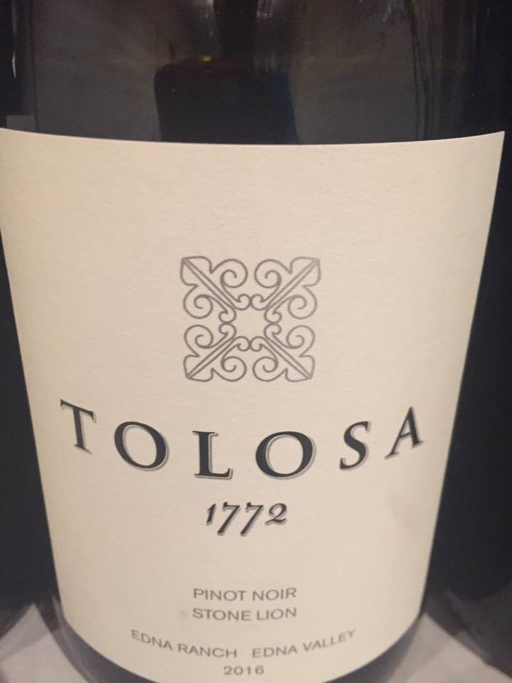 Tolosa – 1772 Pinot Noir 2016, Stone LIon – Edna Ranch, Edna Valley