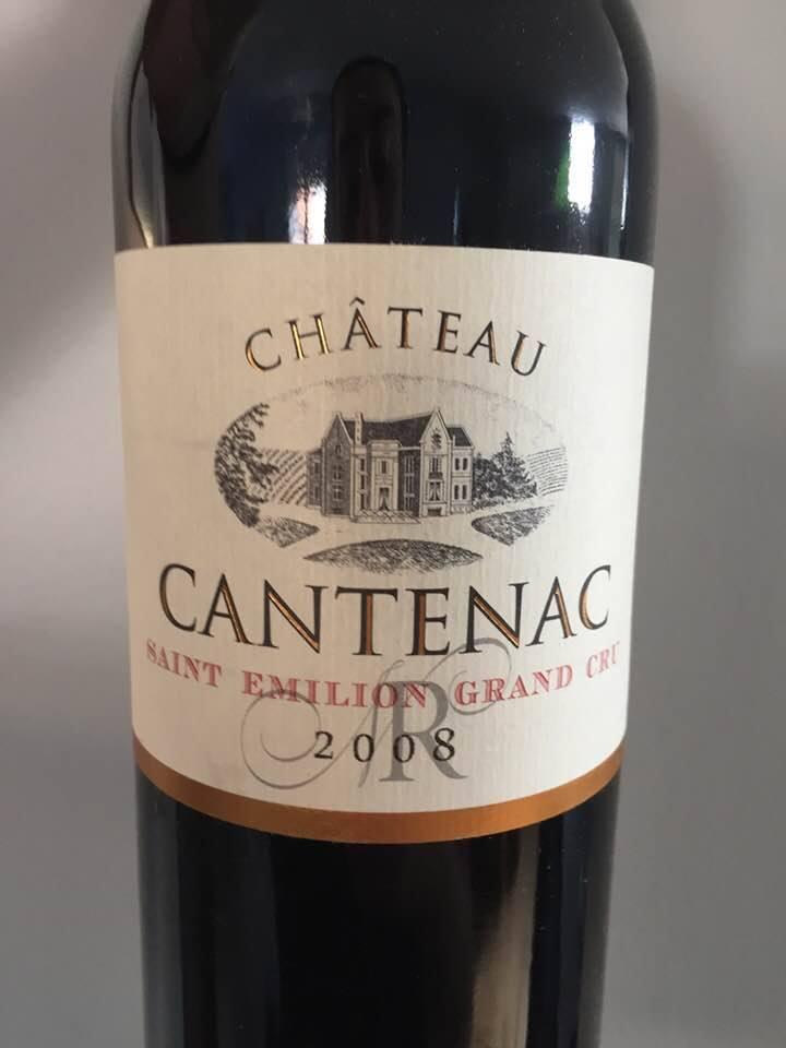 Château Cantenac 2008 – Saint-Emilion Grand Cru