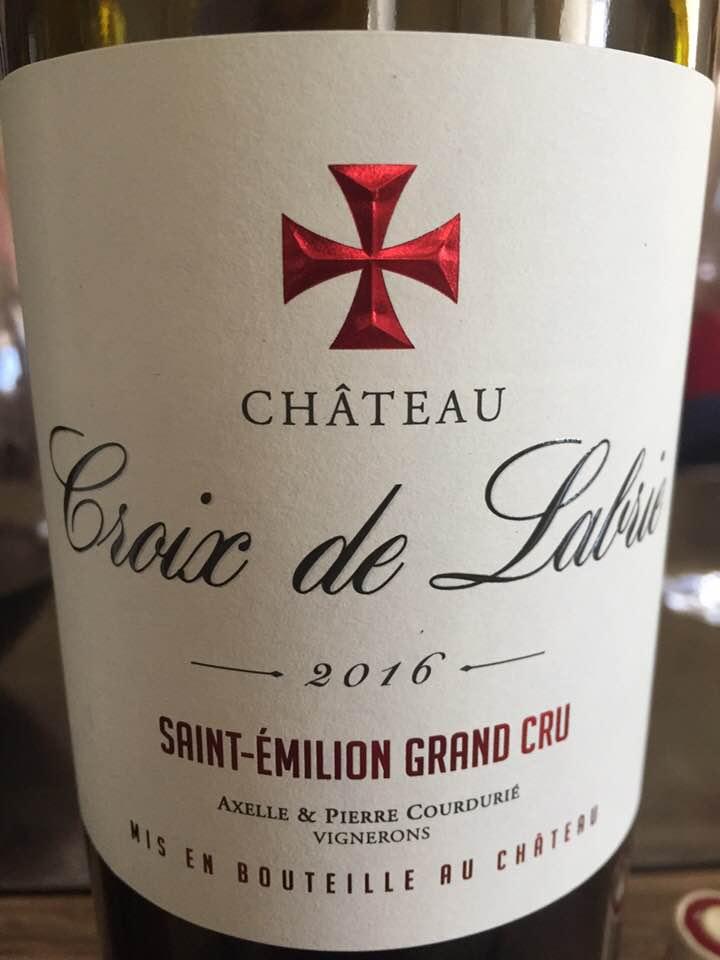 Château Croix de Labrie2016 – Saint-Emilion Grand Cru