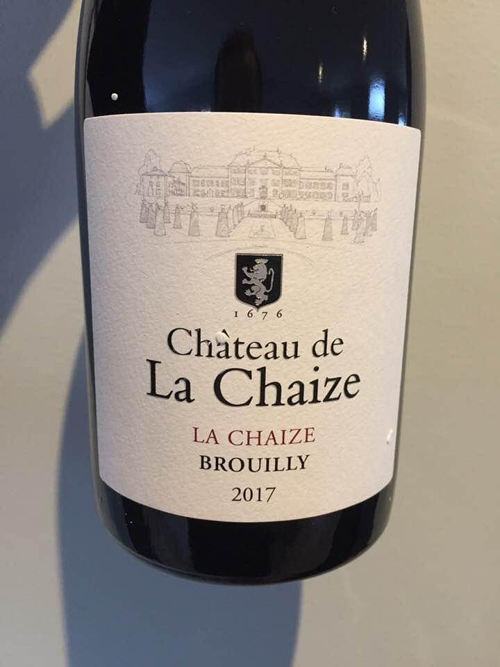 Château de La Chaize – La Chaize 2017 – Brouilly