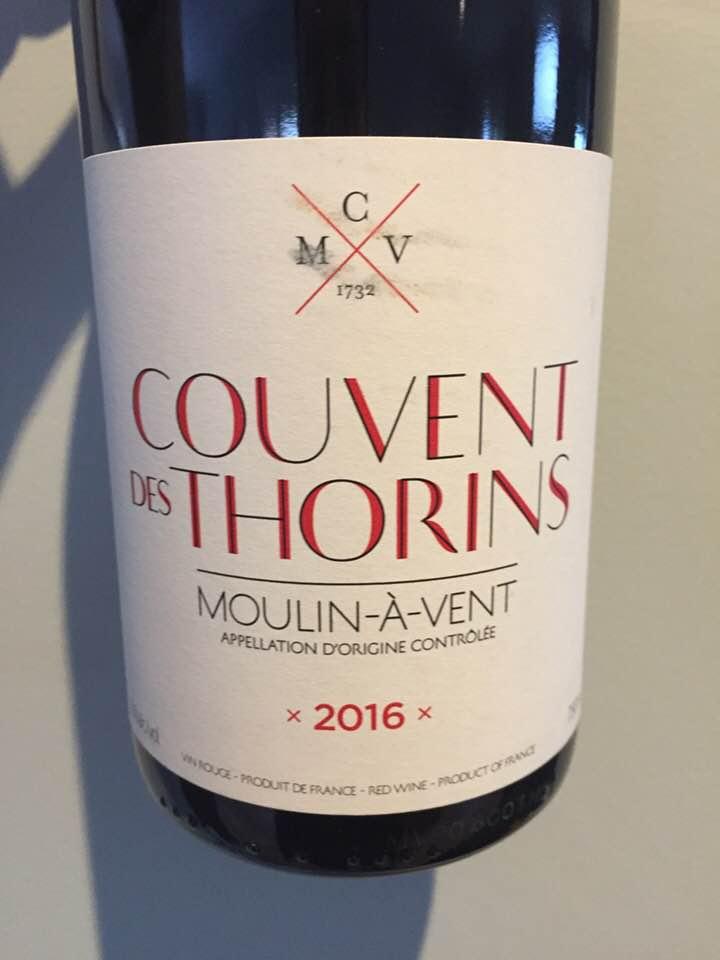 Couvent des Thorins 2016 – Moulin-à-Vent